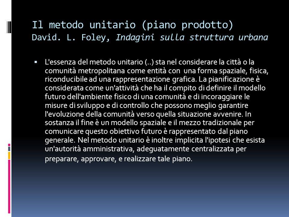 Il metodo unitario (piano prodotto) David. L