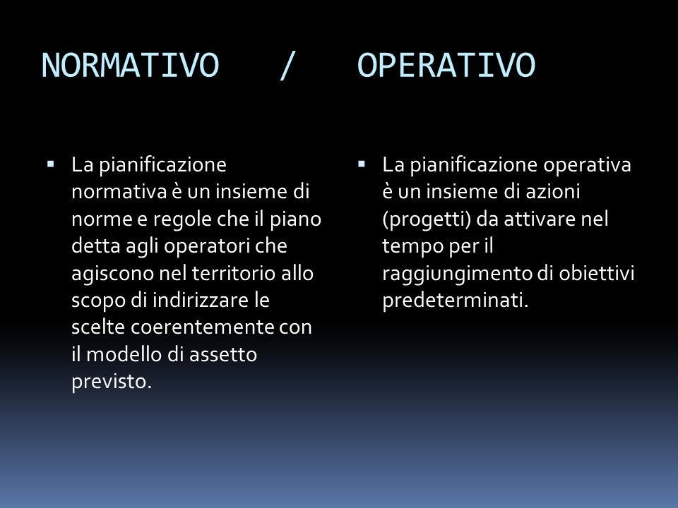 NORMATIVO / OPERATIVO