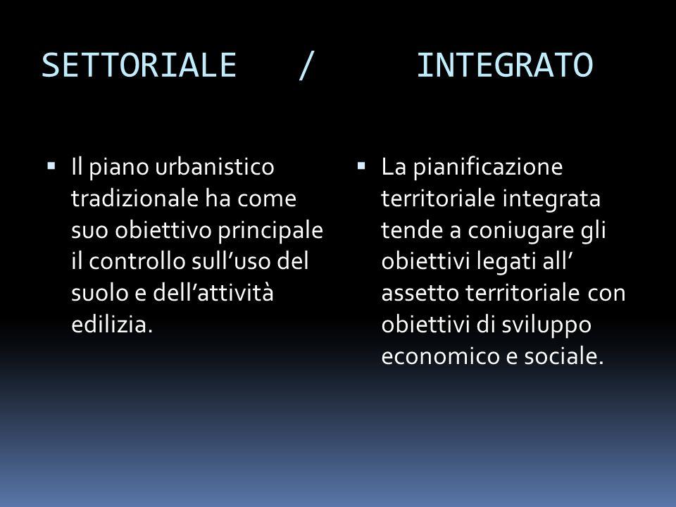 SETTORIALE / INTEGRATO