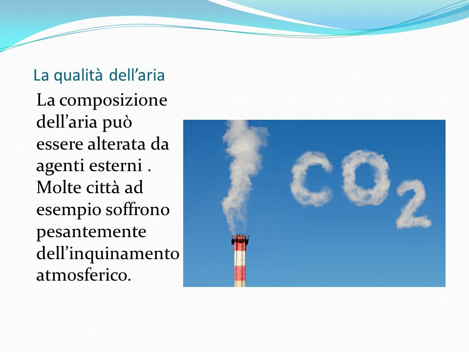 La qualità dell'aria
