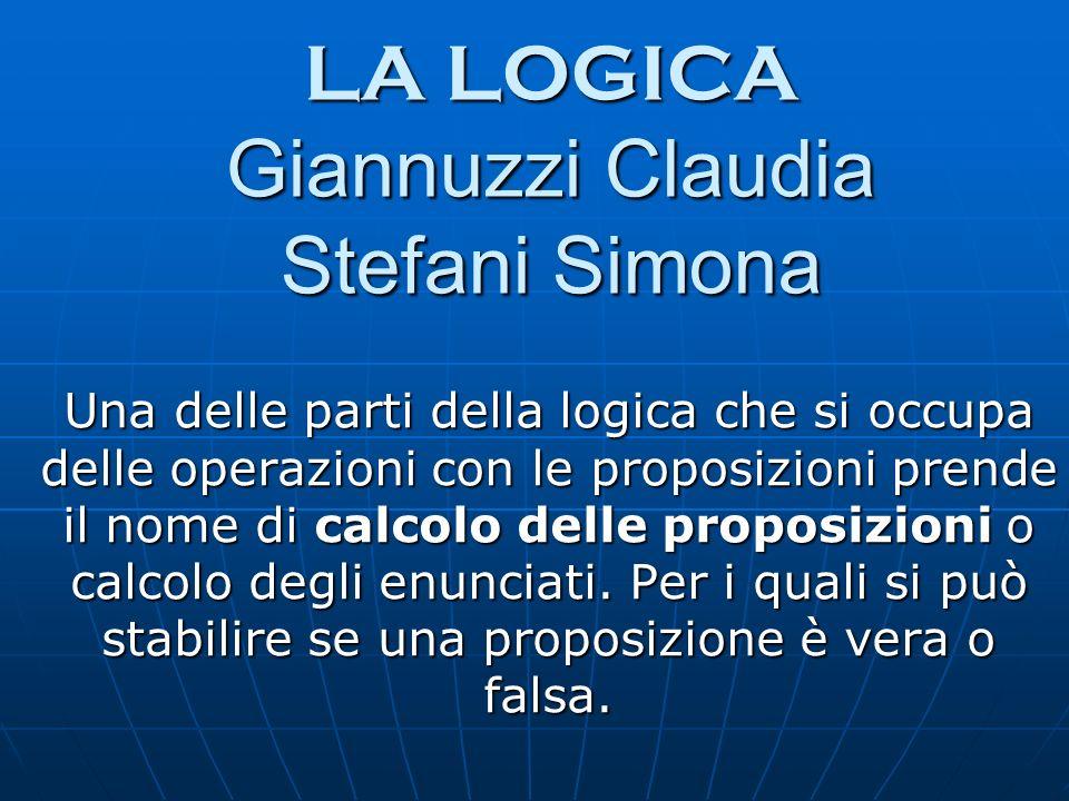 LA LOGICA Giannuzzi Claudia Stefani Simona