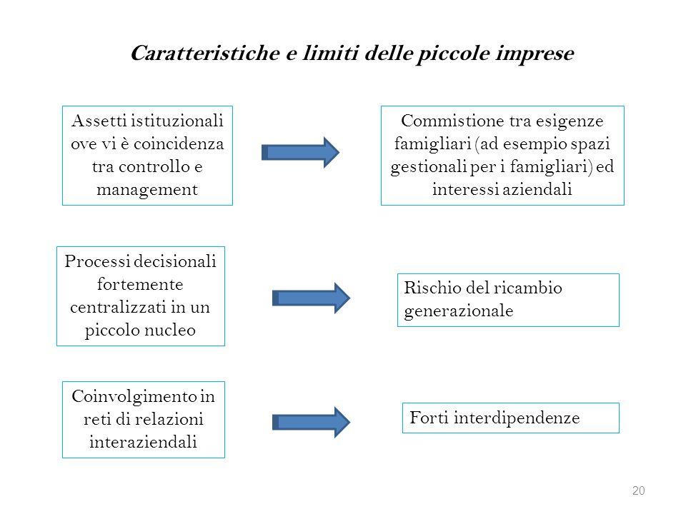 Caratteristiche e limiti delle piccole imprese
