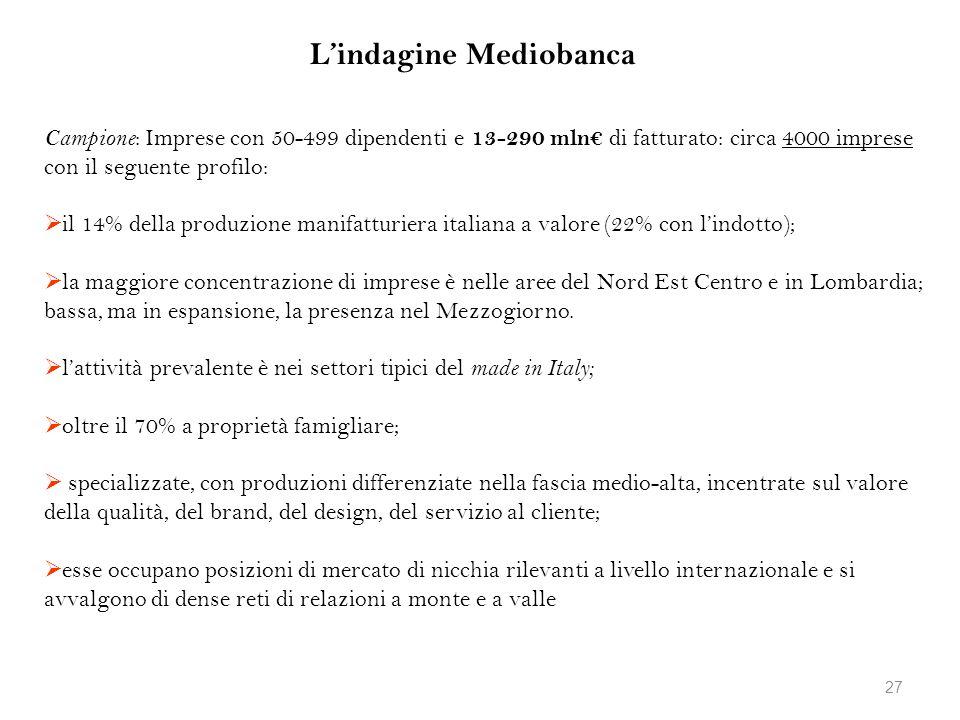 L'indagine Mediobanca