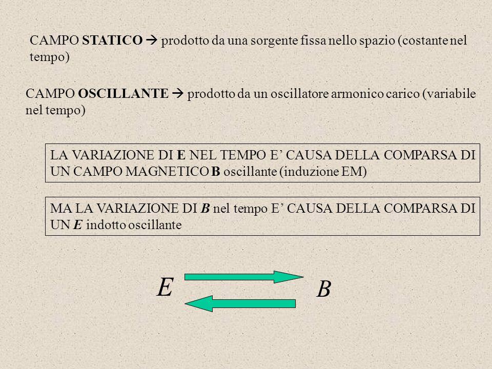 CAMPO STATICO  prodotto da una sorgente fissa nello spazio (costante nel tempo)
