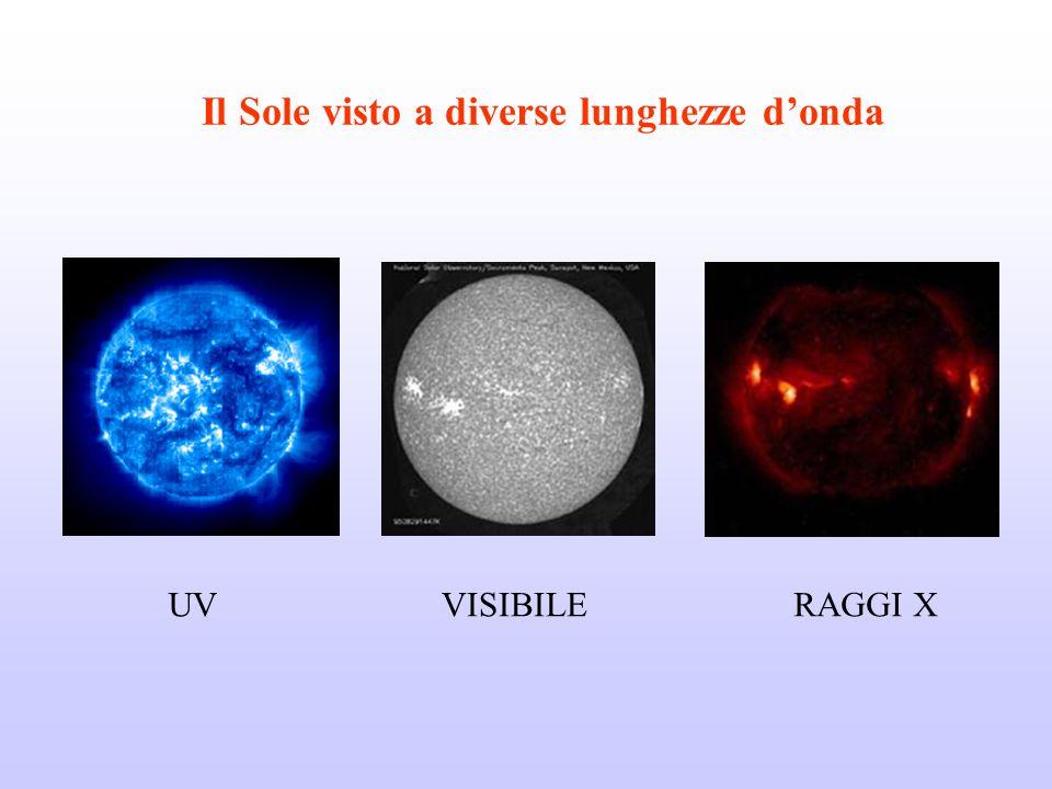 Il Sole visto a diverse lunghezze d'onda