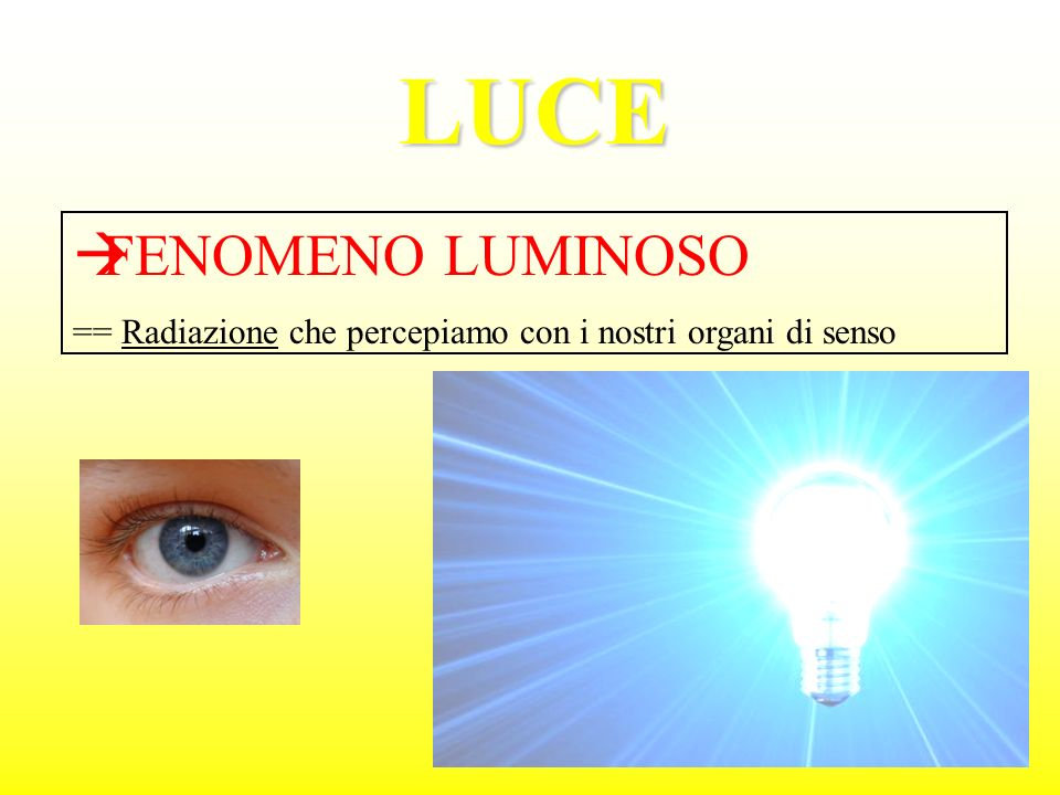 LUCE FENOMENO LUMINOSO