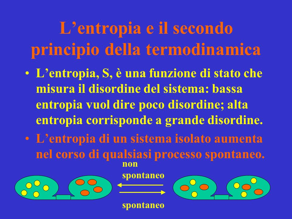 L'entropia e il secondo principio della termodinamica