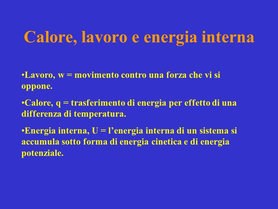 Calore, lavoro e energia interna