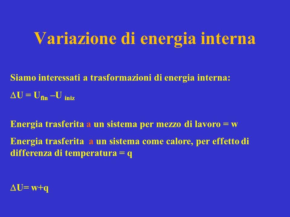 Variazione di energia interna