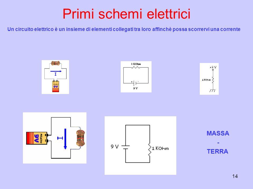 Primi schemi elettrici