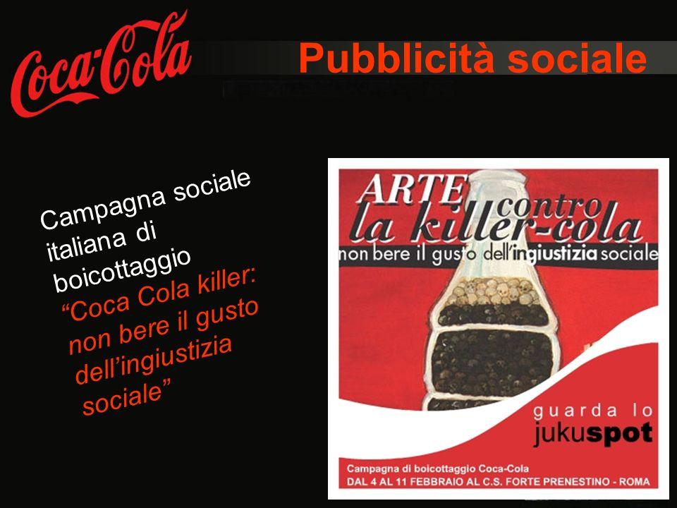 Pubblicità sociale Campagna sociale italiana di boicottaggio