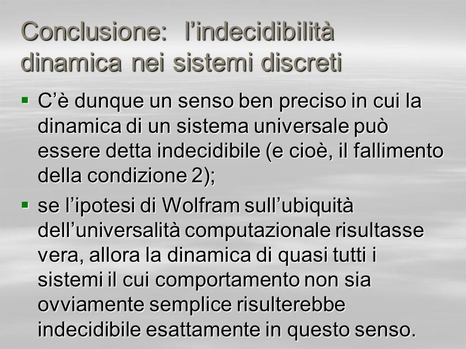 Conclusione: l'indecidibilità dinamica nei sistemi discreti