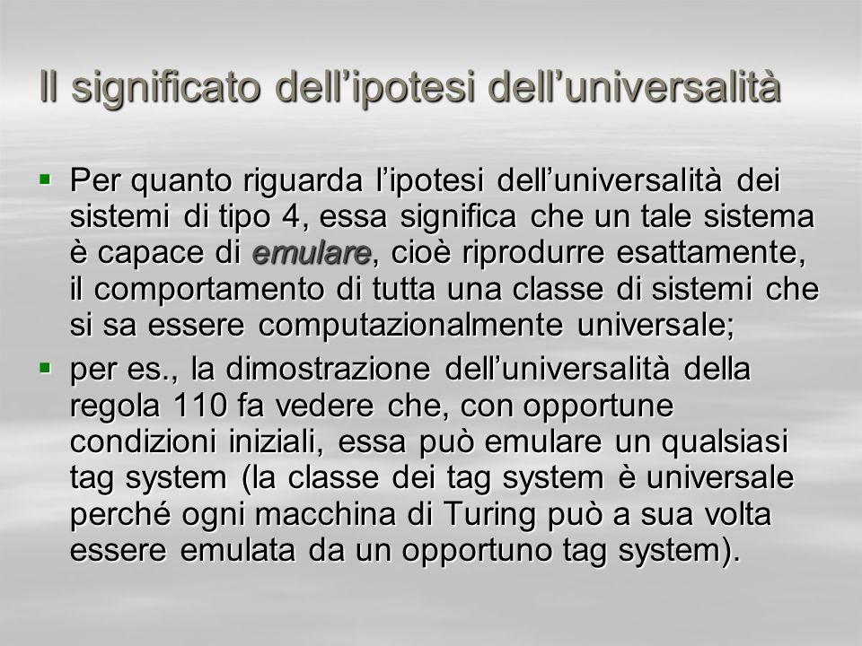 Il significato dell'ipotesi dell'universalità