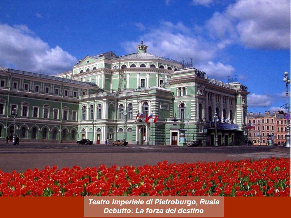 Teatro Imperiale di Pietroburgo, Rusia Debutto: La forza del destino