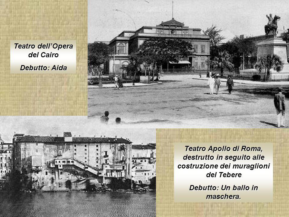 Teatro dell'Opera del Cairo Debutto: Un ballo in maschera.