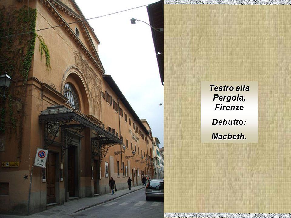 Teatro alla Pergola, Firenze