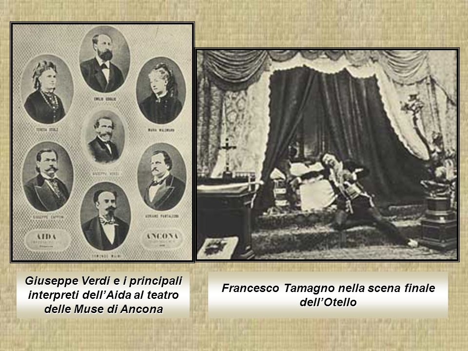 Francesco Tamagno nella scena finale dell'Otello