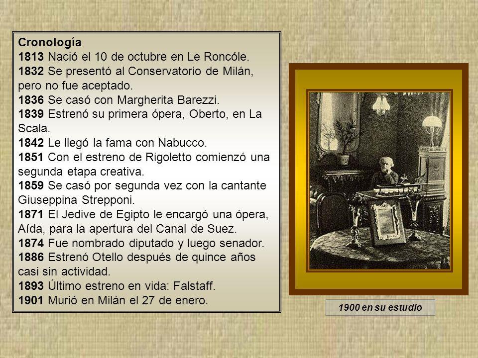 1813 Nació el 10 de octubre en Le Roncóle.