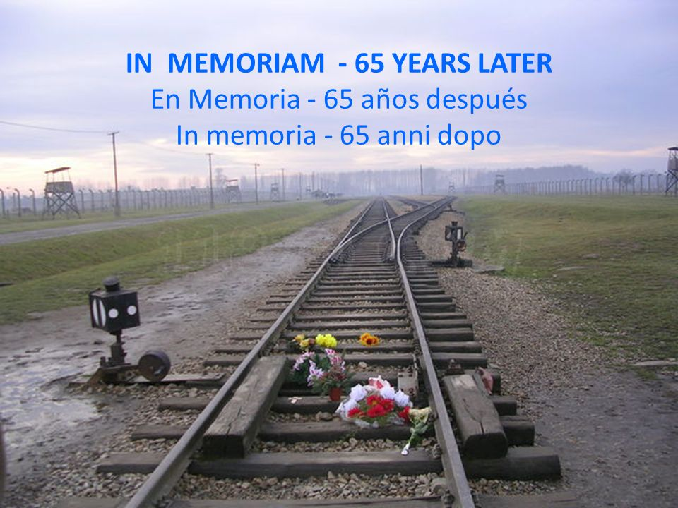 IN MEMORIAM - 65 YEARS LATER En Memoria - 65 años después