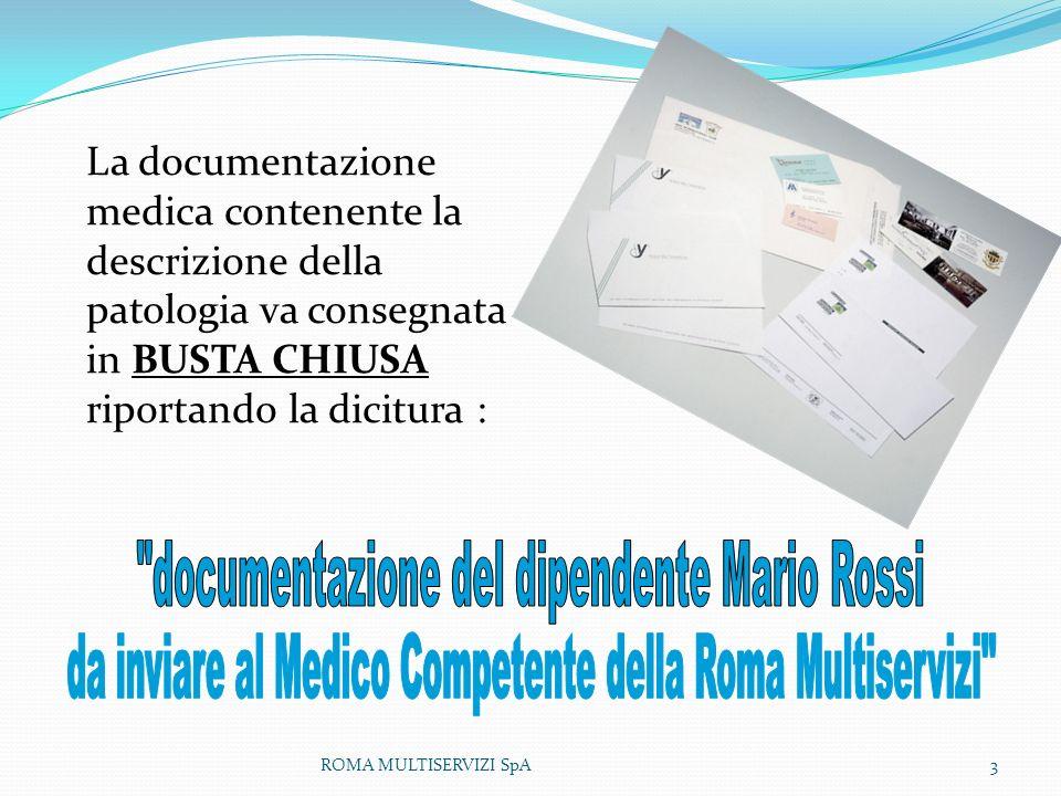 documentazione del dipendente Mario Rossi
