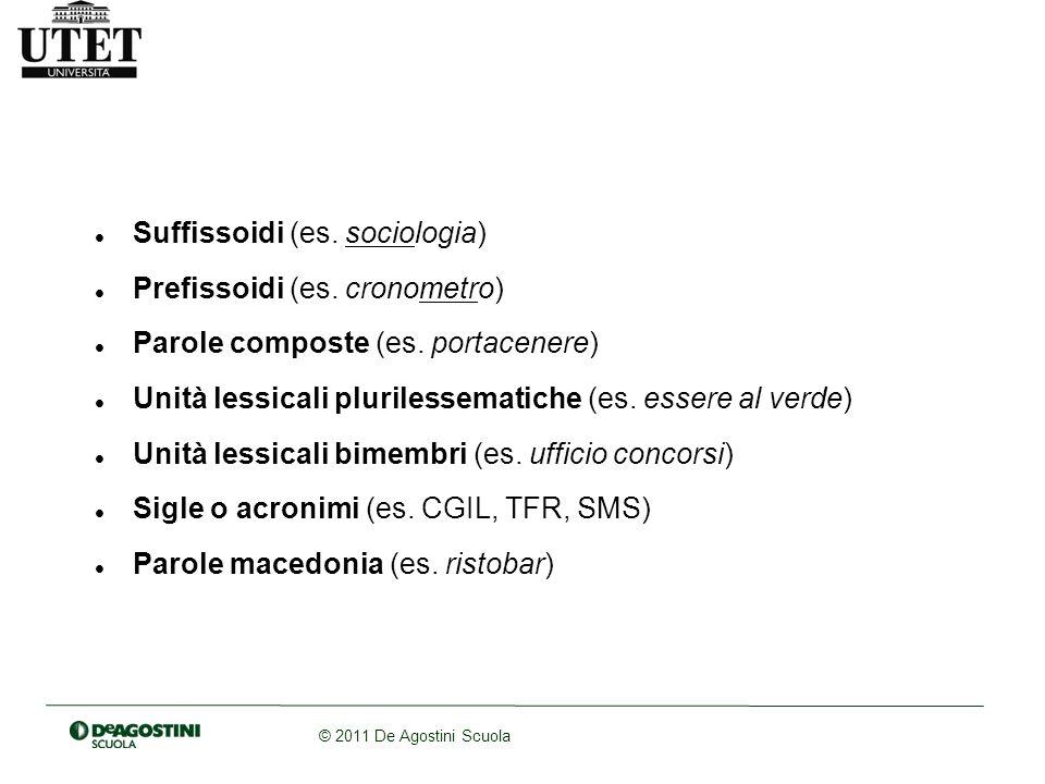 Suffissoidi (es. sociologia)
