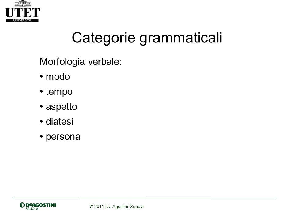 Morfologia verbale: modo tempo aspetto diatesi persona