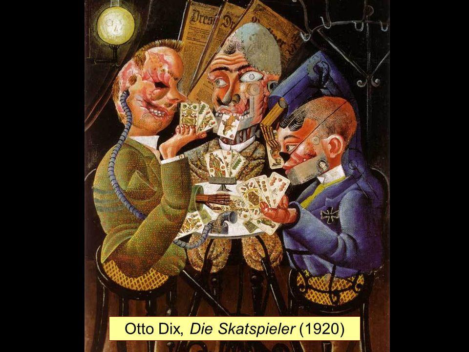 Otto Dix, Die Skatspieler (1920)