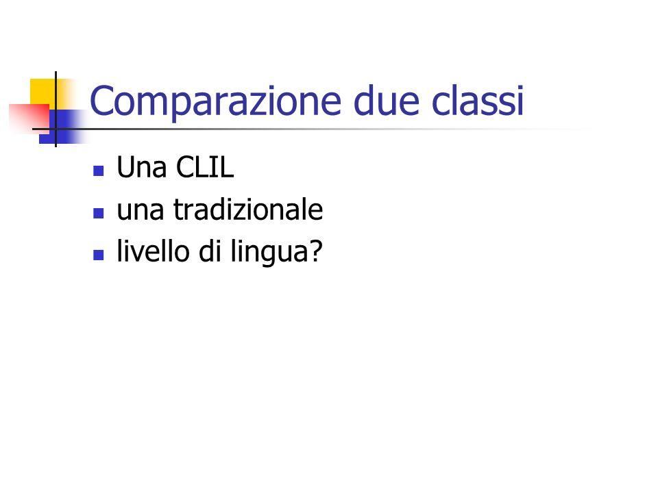 Comparazione due classi