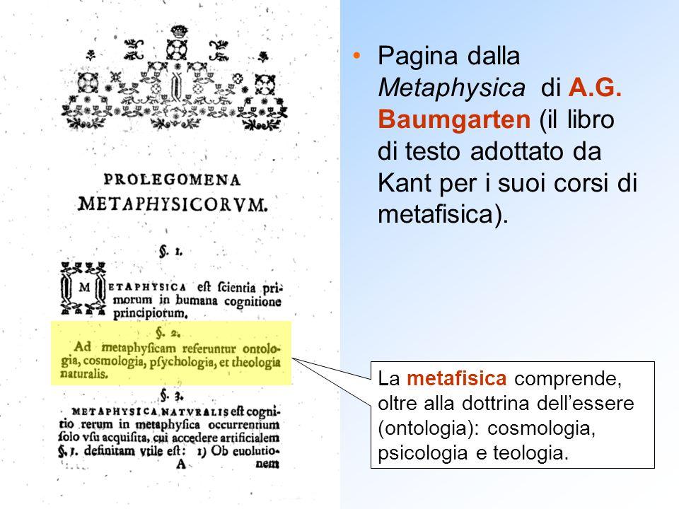 Pagina dalla Metaphysica di A. G