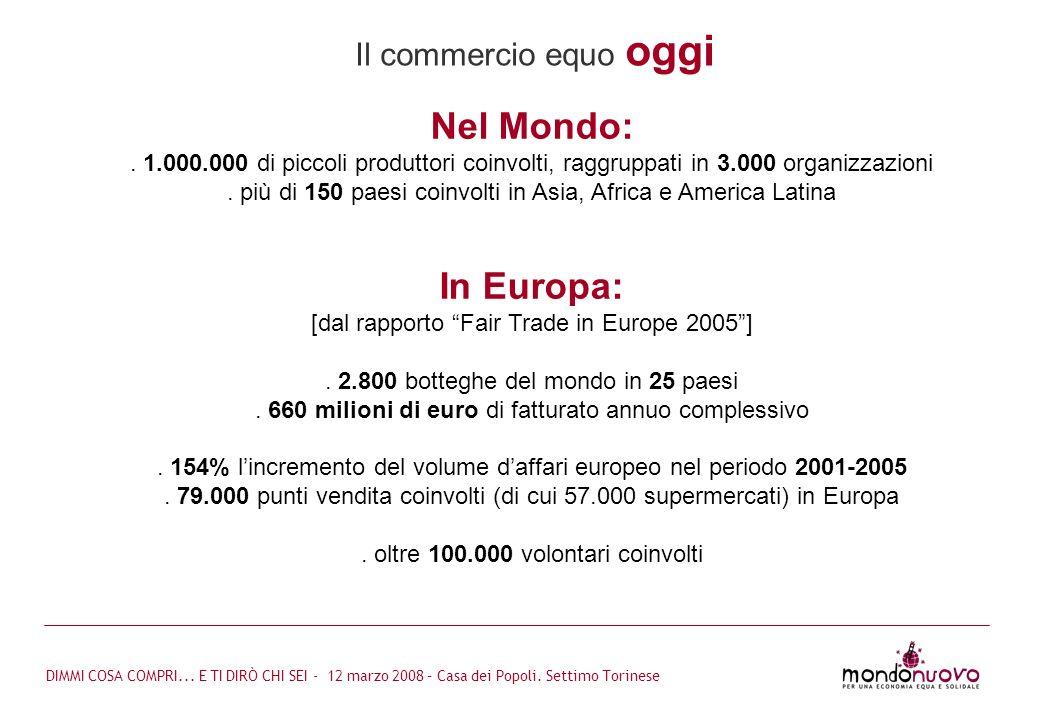 Nel Mondo: In Europa: Il commercio equo oggi