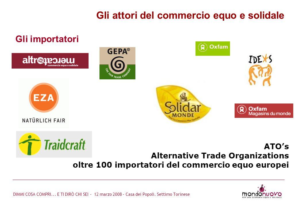 Gli attori del commercio equo e solidale