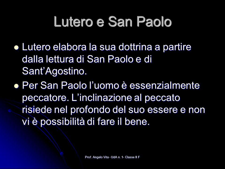 Prof. Angelo Vita - UdA n. 1- Classe II F
