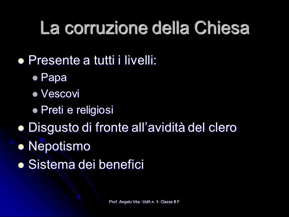 La corruzione della Chiesa