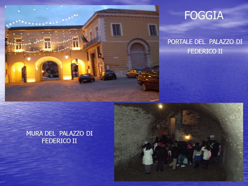 FOGGIA PORTALE DEL PALAZZO DI FEDERICO II