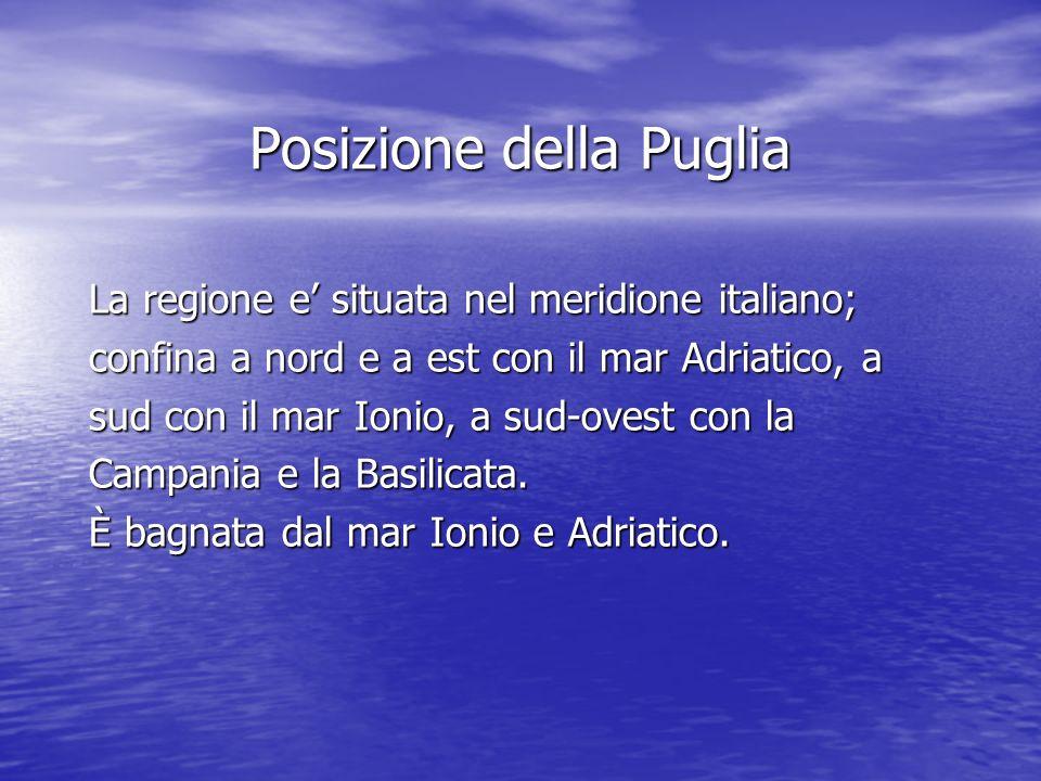 Posizione della Puglia