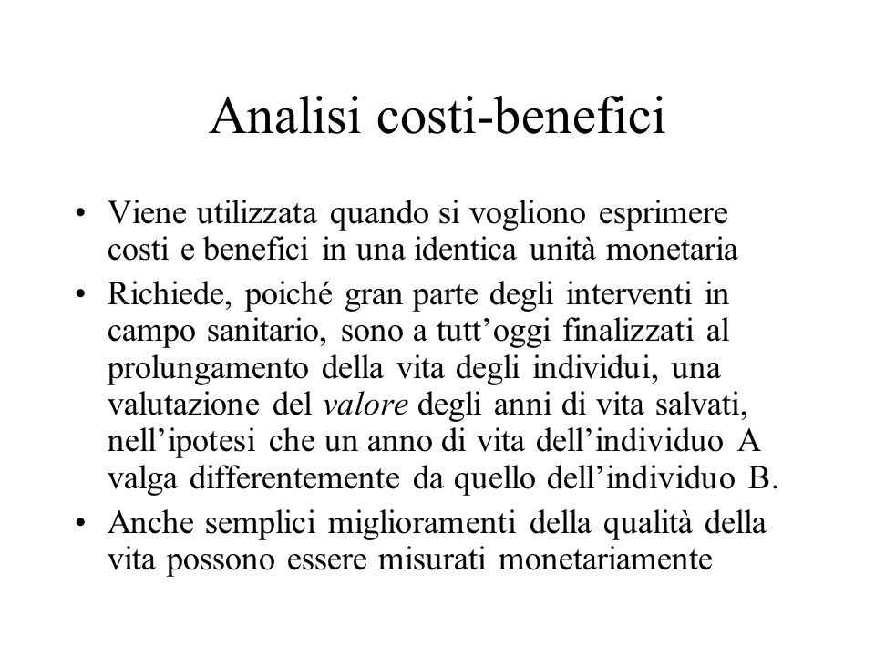 Analisi costi-benefici