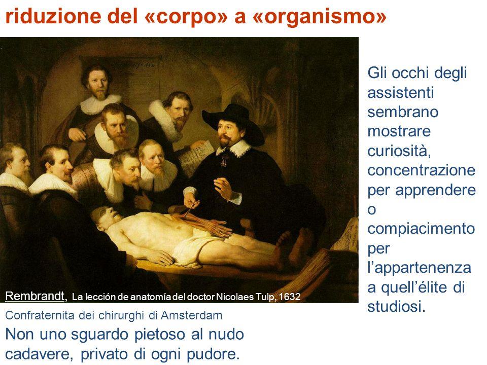 riduzione del «corpo» a «organismo»