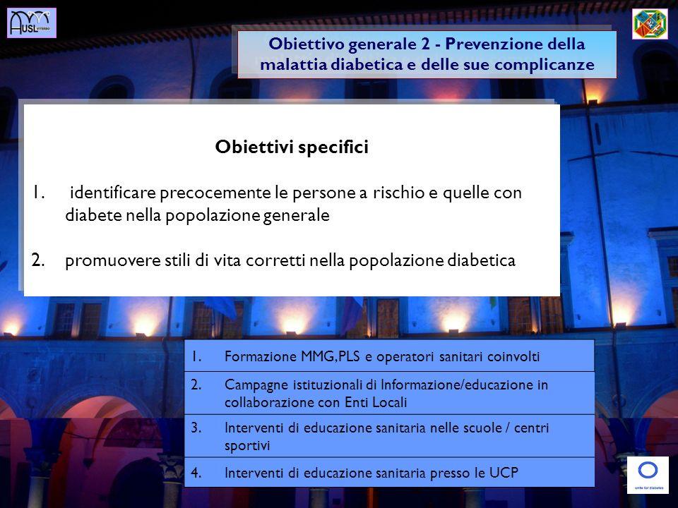 promuovere stili di vita corretti nella popolazione diabetica