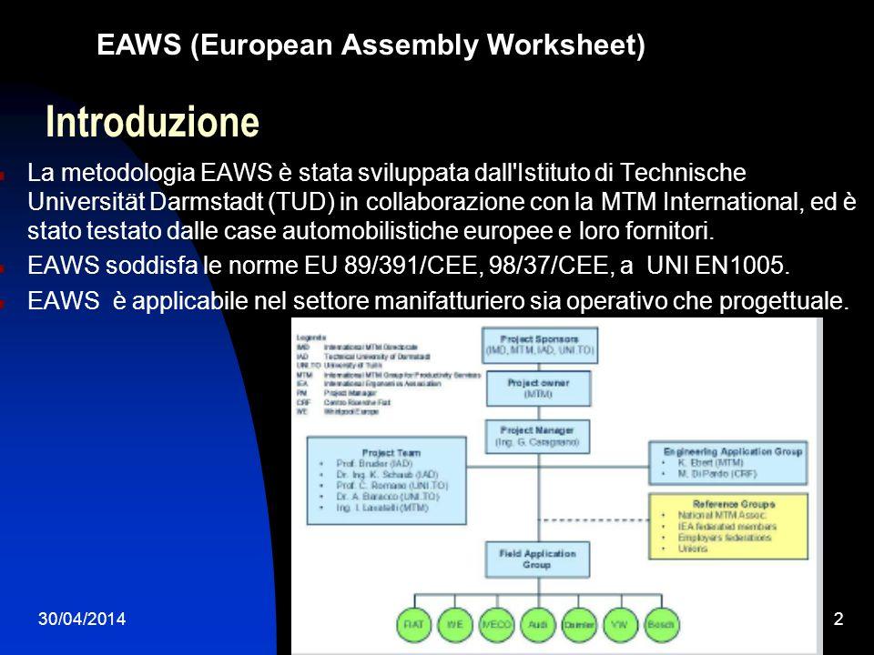 Introduzione EAWS (European Assembly Worksheet)