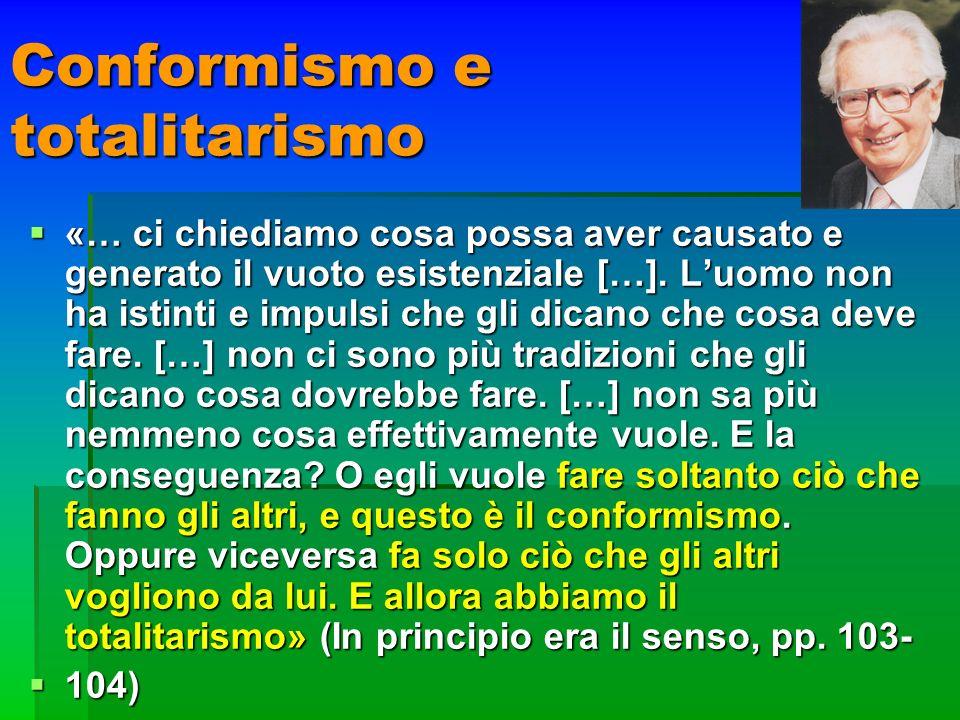 Conformismo e totalitarismo