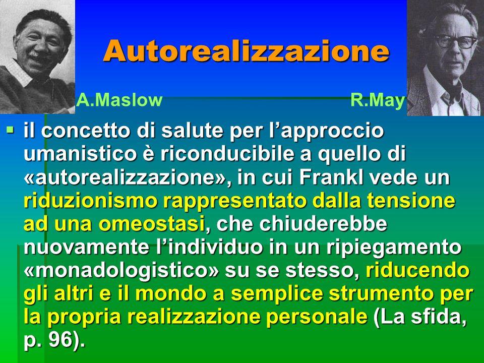 Autorealizzazione A.Maslow. R.May.