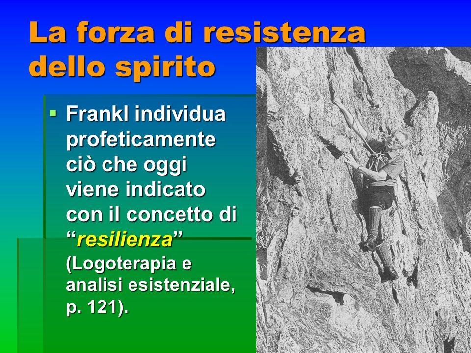 La forza di resistenza dello spirito