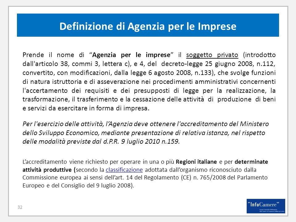 Definizione di Agenzia per le Imprese
