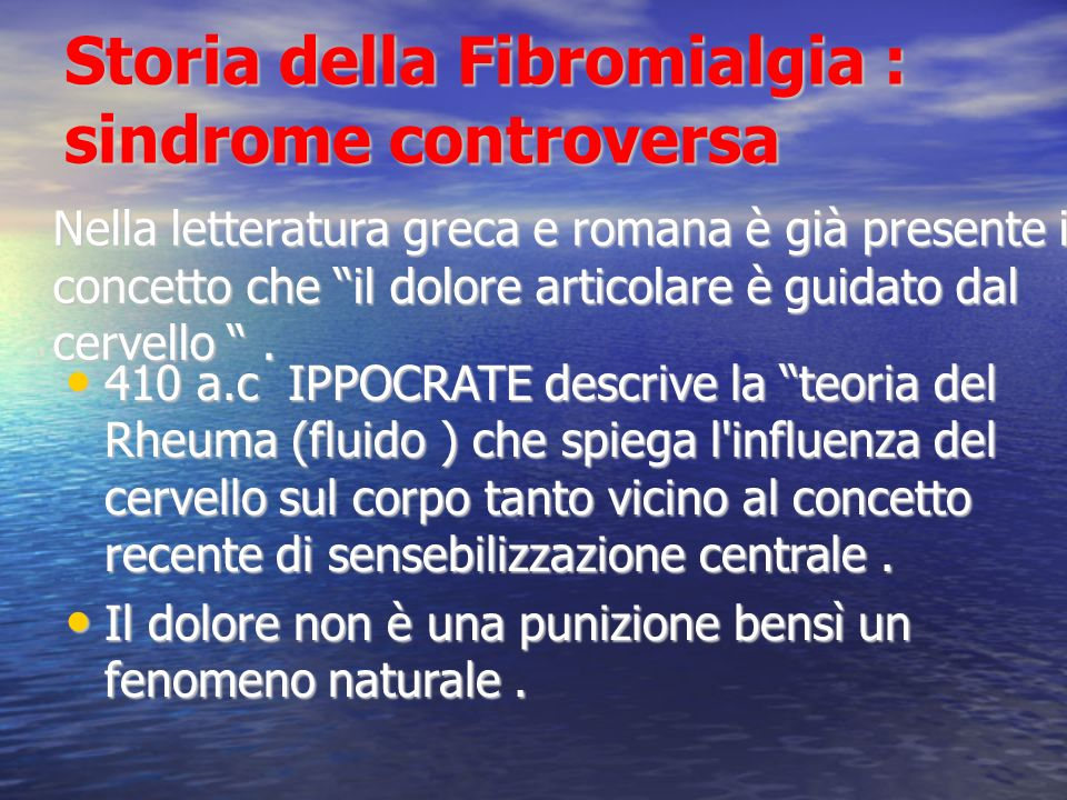Storia della Fibromialgia : sindrome controversa
