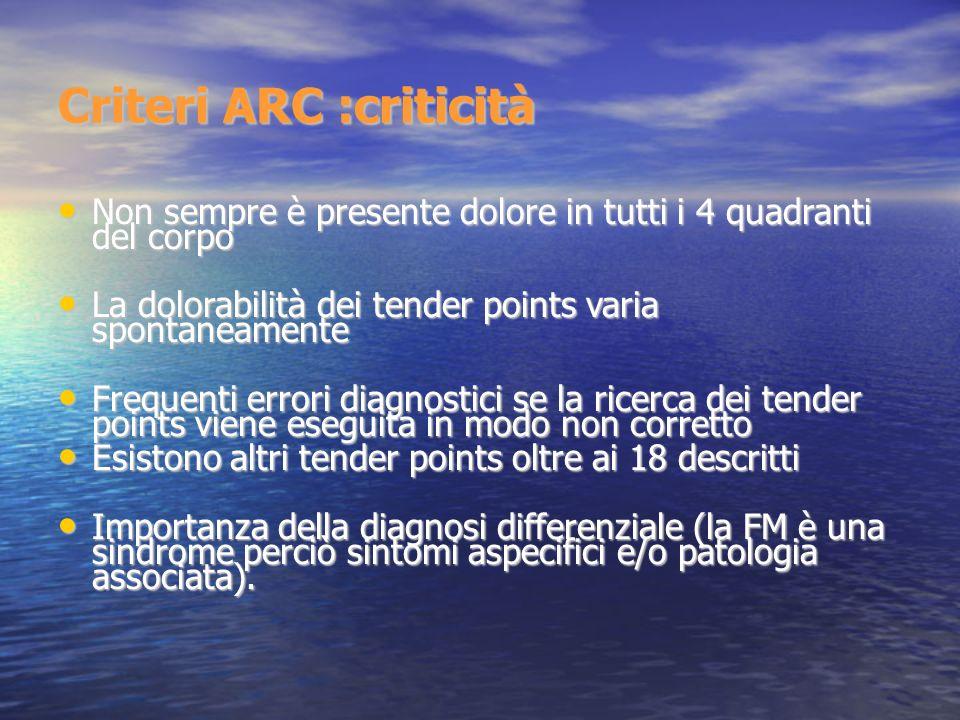 Criteri ARC :criticità