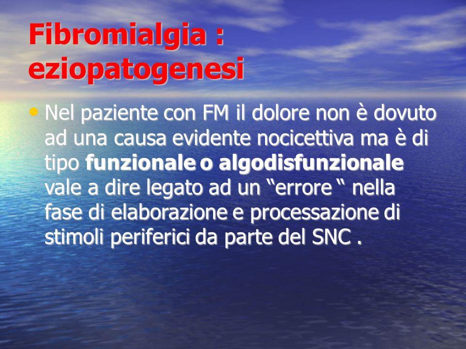 Fibromialgia : eziopatogenesi