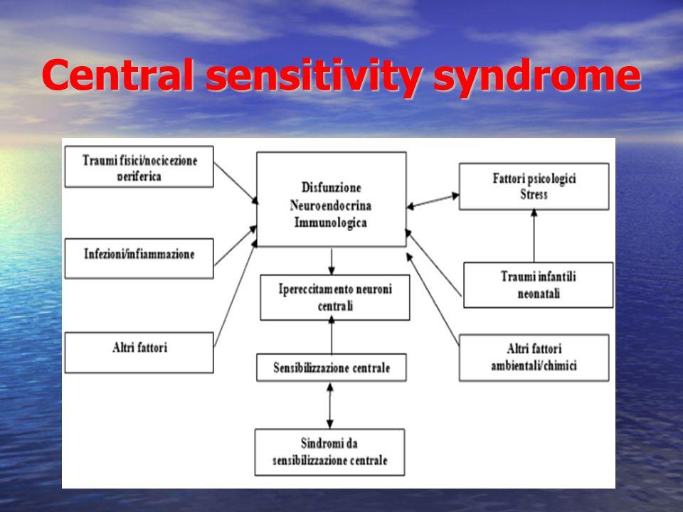 Central sensitivity syndrome