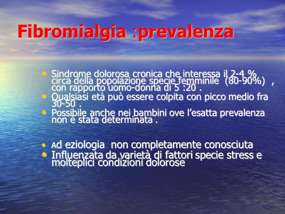 Fibromialgia :prevalenza