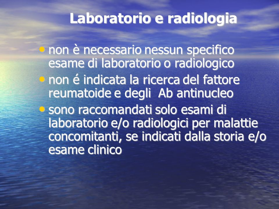 Laboratorio e radiologia