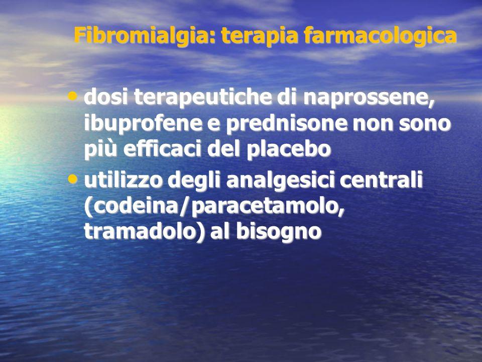 Fibromialgia: terapia farmacologica